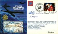 AF9 WW2 Operation Freshman 1992 Flown & signed  cover