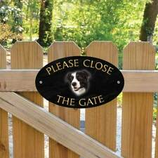 Border Collie Please Close The Gate Sign, Collie Sheep Dog Shut the Gate Plaque