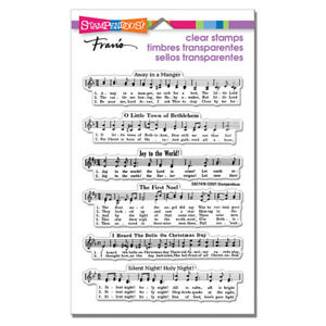Stampendous CAROLING MUSIC PERFECTLY CLEAR Cling Rubber Stamp SSC1416
