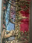 large vintage tapestry vibrant colors Asian theme