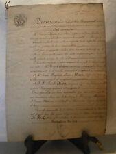 Acte notarié généralité 1848 donation vigne Chavigny  Lorraine