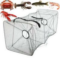 Fish Trap Net Fishing Gear Crab Prawn Shrimp Crayfish Lobster Crawdad Foldable