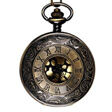 Classical Large Gold Face Roman Pocket Watch Stylish Roman Scale Pocket Wat M1F9