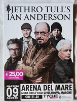 JETHRO TULL's Ian Anderson 15x20 cm flyer Italia progressive rock