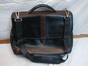 Johnston & Murphy Leather Messenger Bag Laptop Case Side Satchel Briefcase Work