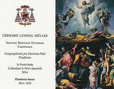 Gedenkbildchen d.eh Präfekts der Glaubenskongregation Kardinal Gerhard L. Müller
