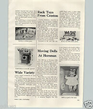1969 PAPER AD Article Moving Dolls Horsman Pitter Patty Baby Throw A Kiss Kicks