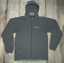 Men's Mont-Bell Nylon Hooded Windbreaker Shell Jacket XS Gray