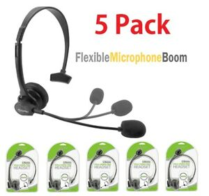5x Cellet 3.5mm Hands-Free Headset with Boom Mic for Home Office Smartphones PC