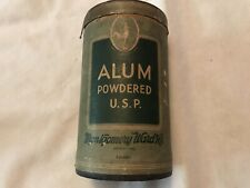ALUM, Powdered U. S. P. Vintage Package, Montgomery Ward Co.