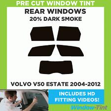 VOLVO V50 ESTATE 2004-2012 20% DARK REAR PRE CUT WINDOW TINT