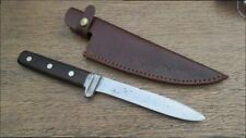 RARE Vintage STA-SHARP/Camillus Bolstered Carbon Steel Butcher Hunting Knife WOW