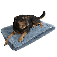 Dog & Cat Pet Bed Bolster Foam Deluxe Bedding Cuddler Fluffy Pillow- Large Blue