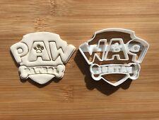 Paw PATROL cartoni animati 002 Biscotti Fondente Cutter Cupcake Decorazione per Torta Regalo BADGE