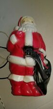 Vintage Santa Claus Empire Blow Mold Plastic Christmas Figure 1968 made in USA