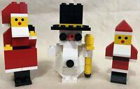 LEGO Vintage Christmas Sets - Santa w/Reindeer 1628 - Frosty the Snowman +2 More