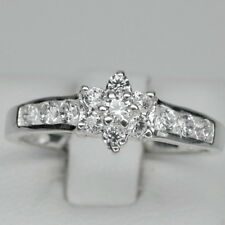 Lovely! Top White Sapphire Gems Sterling 925 Silver Lady Ring Size 6
