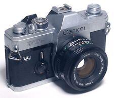 Canon FTb QL SLR Vintage 35mm Film Camera w 50mm f/1.8 LENS Japan