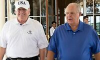 PRESIDENT DONALD TRUMP RUSH LIMBAUGH OFFICIAL USA WHITE HOUSE 8X10 PHOTO POSTER