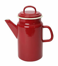 Dexam Vintage Home 2 Litre Coffee Pot Claret Red Enamel Finish Kitchen Caravan