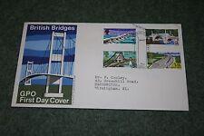 GPO First Day Cover 'British Bridges' Bridge, Canterbury Cancellation 1968