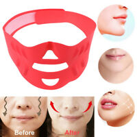 3D silicone shaper V cheek lift up face slimming mask belt band shaping slimmerW