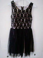 Prom black holiday LACE DRESS UK 8 10  Steampunk evening gothic wedding  party