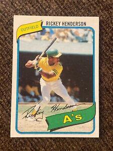 Rickey Henderson 1980 topps rookie card #482 nm-mt