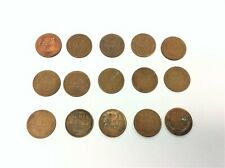 Lot Circulated Wheat Pennies Coins 1920 1929 1937 1939 1944 1945 1948 1950s