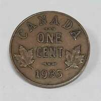 1935 Canada One Cent Ungraded Raw Coin Canadian Penny CNBP9