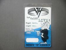 Van Halen backstage pass Laminated tour pass Uk & Europe Right Here '93 !