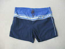 VINTAGE Nautica Swim Trunks Adult Extra Large Blue White Shorts Bathing Suit Men