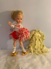"""Tomy 18"""" Kimberly play Doll With Roller Skates Original Outfit plastic vinyl"""
