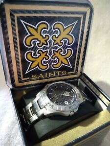 New Orleans Saints NFL Stainless Steel Watch by Fossil NEW (RARE)