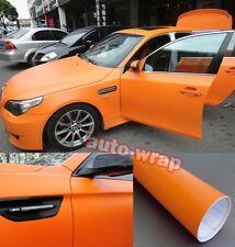 "Bidding 12"" x 60"" Car Flat Matte Orange Finish Vinyl Wrap Sticker Film Air Free"
