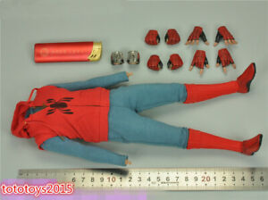 HT MMS552 1/6 Marvel Spider-Man Homemade Clothes Set & Figure Body Acessories