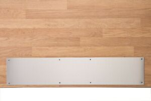Brushed Stainless Steel Door Kick Protection Plate 430 Grade - Fixings Included
