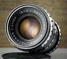 Rare ISCO GÖTTINGEN lens ISCONAR 4/100 M42 screw mount 100mm F/4 * 10 Blades