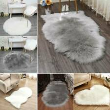 Soft Fluffy Faux Fur Sheepskin Rug Living Bedroom Floor Carpet Rugs Mat Decor