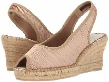 Spring Step Azura Women's Jeanette Espadrille Wedge Sandal Shoes, Beige, 6.5-7 M