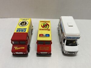WB Mason Toy Truck Lot Of 2 Phillies/Pirates and 1-Super Soft Ice Truck Collect
