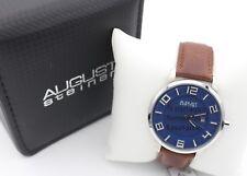 August Steiner Men's Watch AS8108BU Stainless Steel Braun Bracelet Swiss Quartz