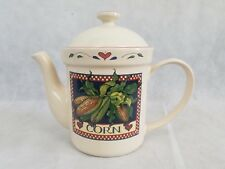 Certified International Corp Susan Winget Corn Stalk Heart Coffee Tea Pot w/ Lid