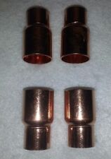 """3/4"""" x 1/2"""" Copper FITTING Reducer Coupling Solder Sweat Pressure. New. Lot of 4"""