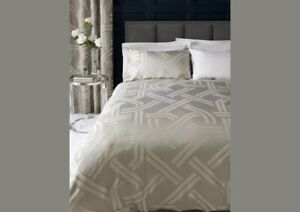 Brand New Next Graphic Jacquard Duvet Cover And Pillowcase Set king size