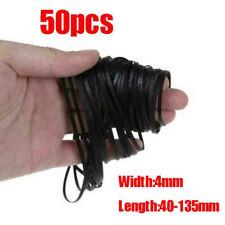 50pcs 40-135mm Universal Mix Cassette Rubber Drive Flat Belt For Tape Machine #J