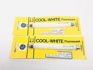 GE Cool White Fluorescent 6 Inch 4 Watt Bulb F4T5/CW Miniature Bi Pin Base 2 Pks