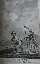 Fables de la Fontaine Recueil de 182 gravures sur cuivre 2 tomes cartonnage