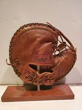 Vintage Rawling Stan Lopat Catchers Mitt - Rare Turtleback