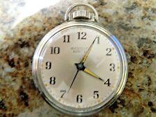 Vintage 16 Size Westclox Pocket Ben Watch Engraved Back, Runs           A10